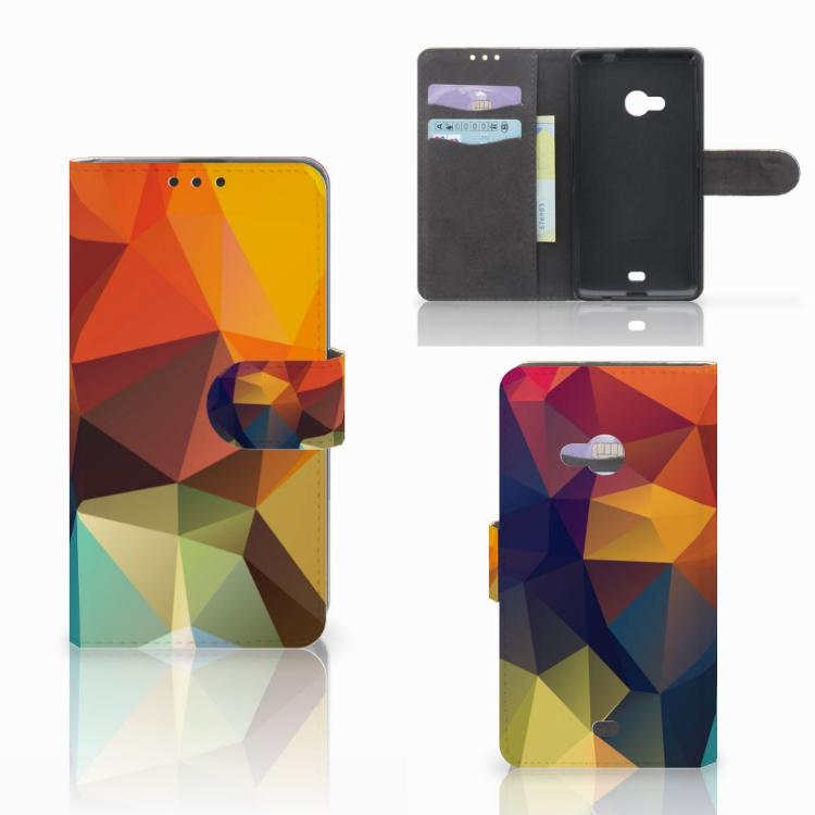 Microsoft Lumia 535 Bookcase Polygon Color