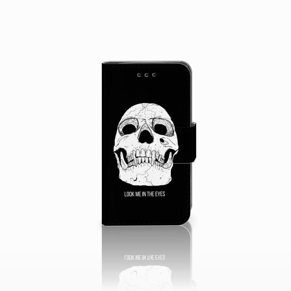 Samsung Galaxy Trend 2 Uniek Boekhoesje Skull Eyes