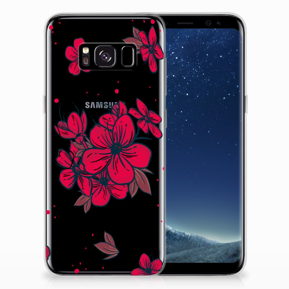 Samsung Galaxy S8 TPU Case Blossom Red