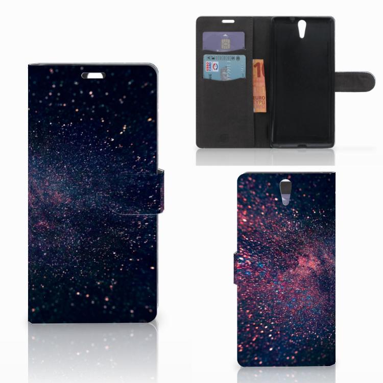 Sony Xperia C5 Ultra Bookcase Stars
