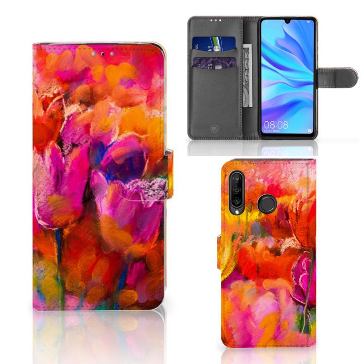 Hoesje Huawei P30 Lite (2020) Tulips