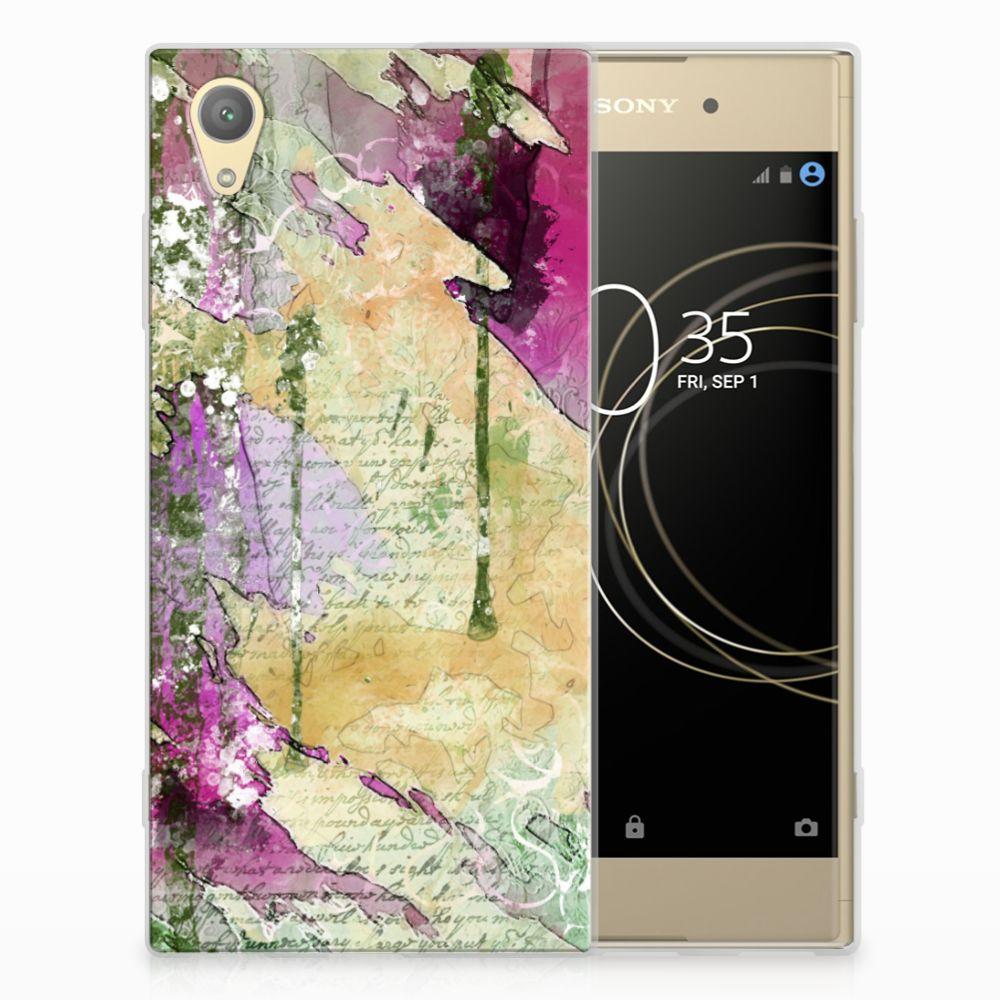 Sony Xperia XA1 Plus Uniek TPU Hoesje Letter Painting