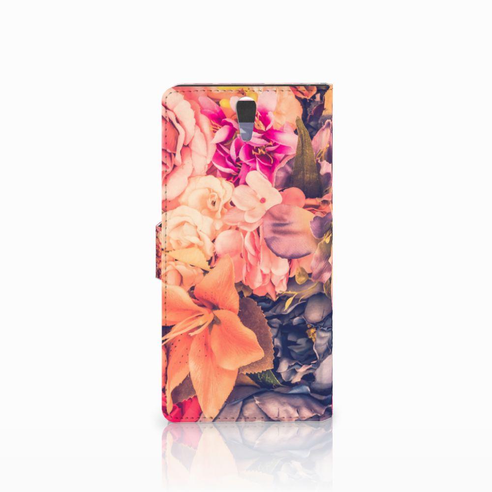 Sony Xperia C5 Ultra Hoesje Bosje Bloemen