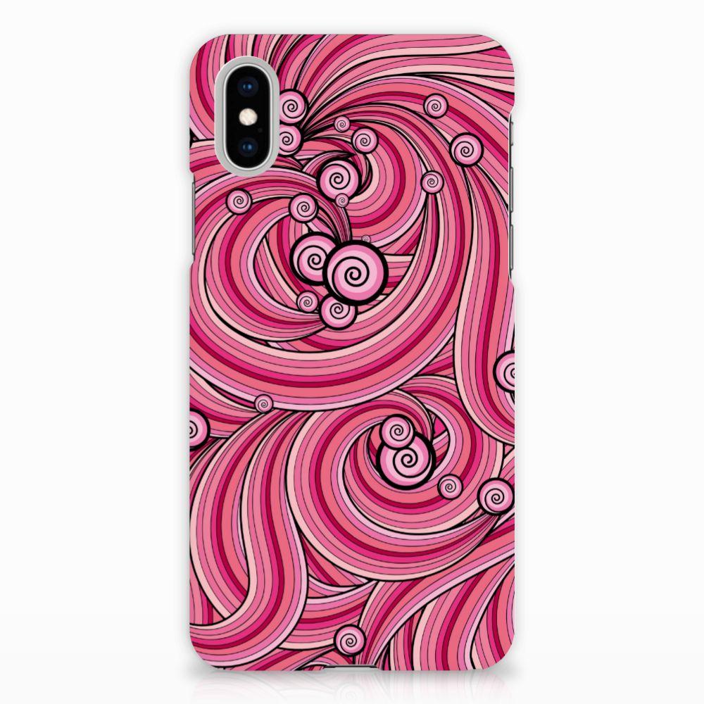 Apple iPhone X | Xs Uniek Hardcase Hoesje Swirl Pink