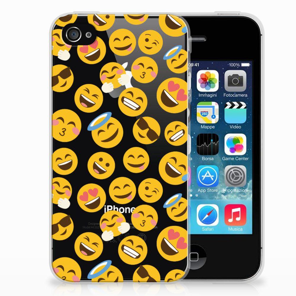 Apple iPhone 4 | 4s TPU Hoesje Design Emoji