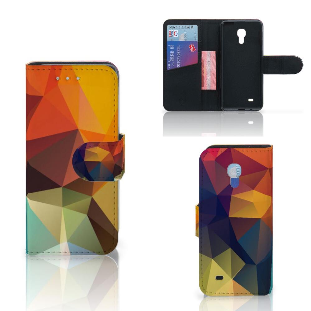 Samsung Galaxy S4 Mini i9190 Bookcase Polygon Color