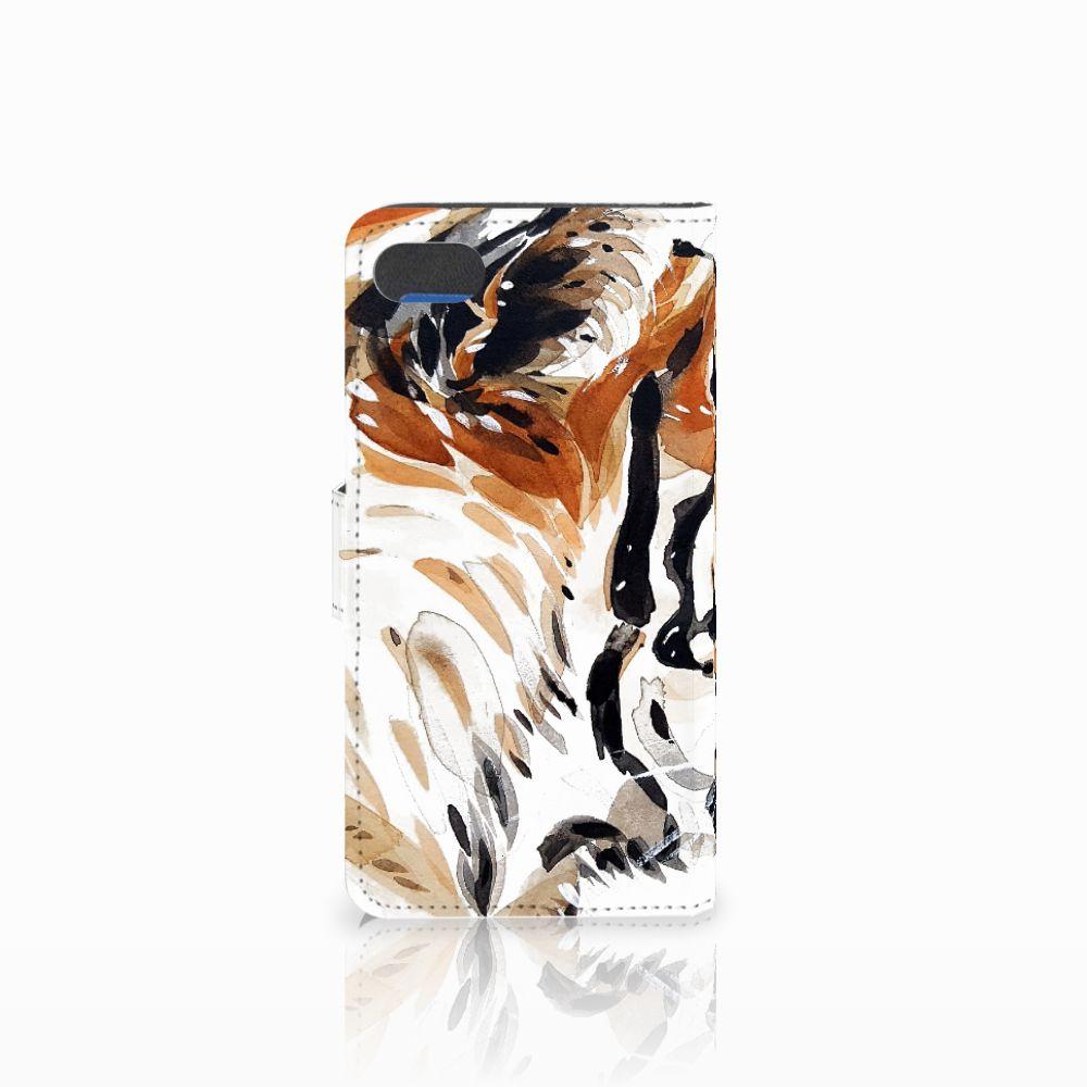 Hoesje Huawei Y5 2018 Watercolor Tiger