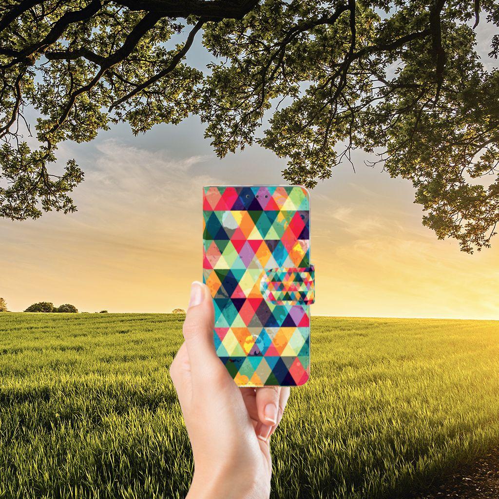 Microsoft Lumia 640 Uniek Boekhoesje Geruit