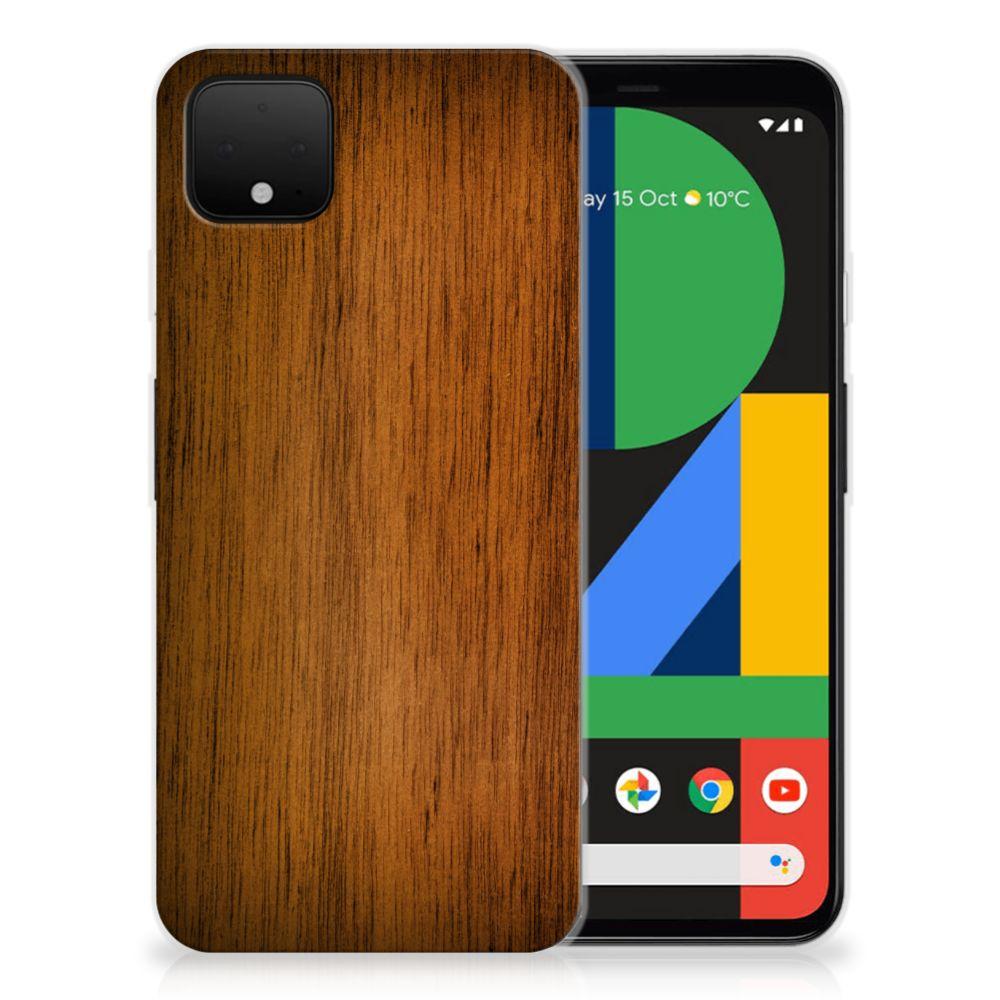 Google Pixel 4 XL Bumper Hoesje Donker Hout