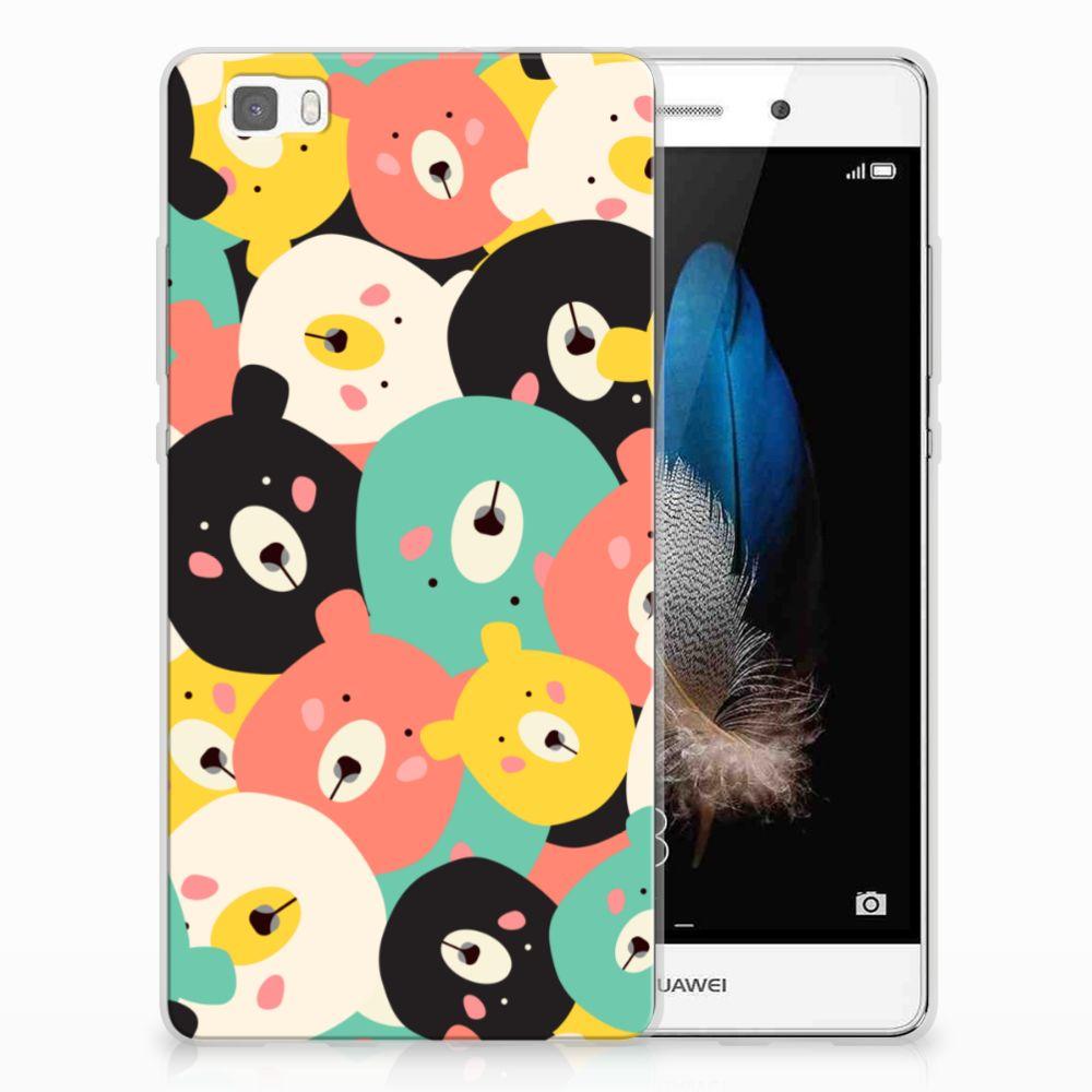 Huawei Ascend P8 Lite Uniek TPU Hoesje Bears