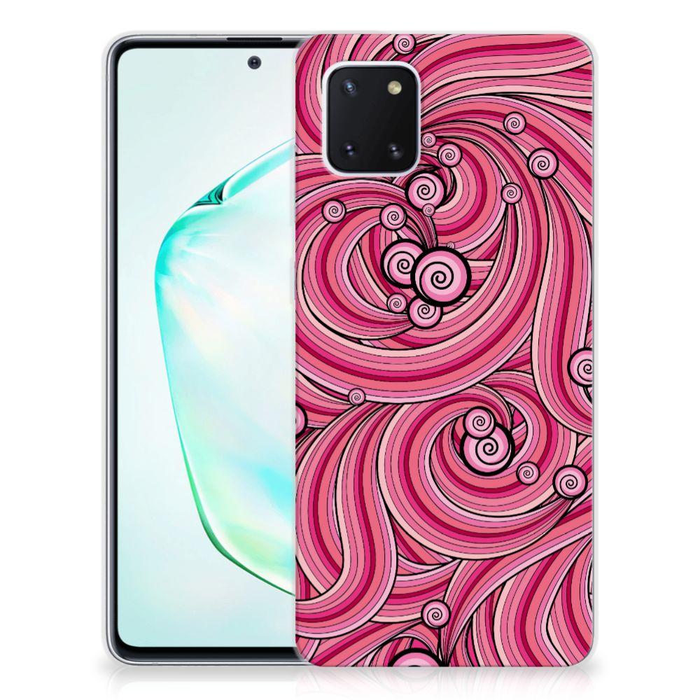 Samsung Galaxy Note 10 Lite Hoesje maken Swirl Pink
