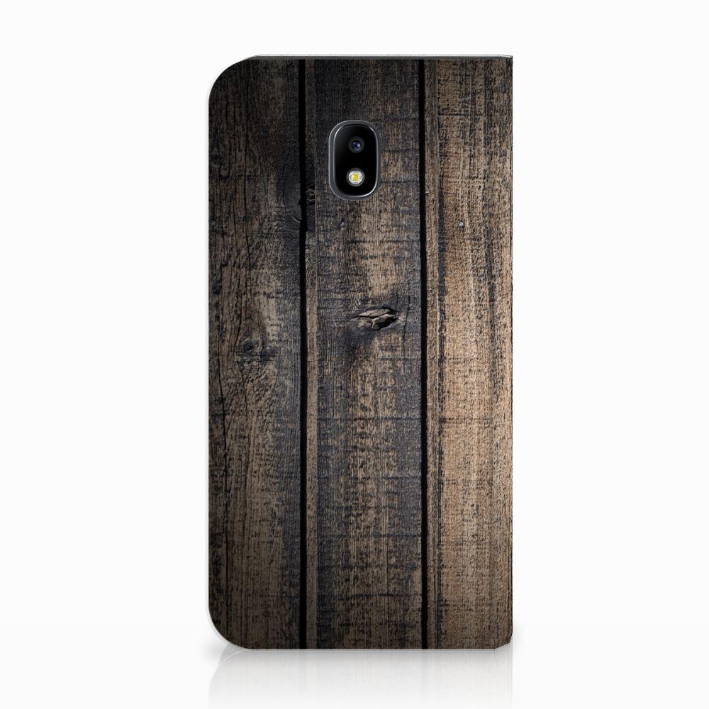 Samsung Galaxy J3 2017 Standcase Hoesje Design Steigerhout