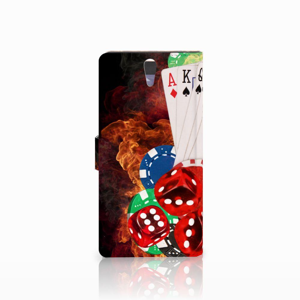 Sony Xperia C5 Ultra Wallet Case met Pasjes Casino