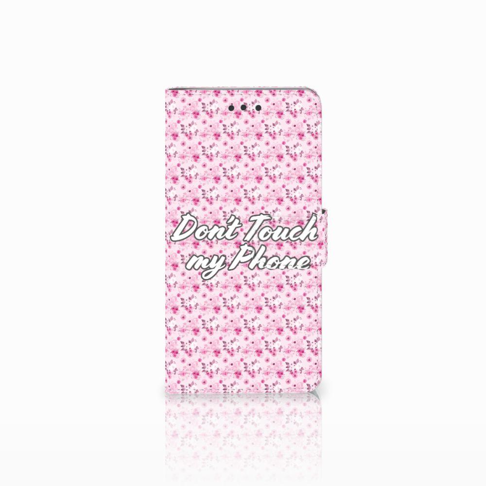 HTC U Play Uniek Boekhoesje Flowers Pink DTMP