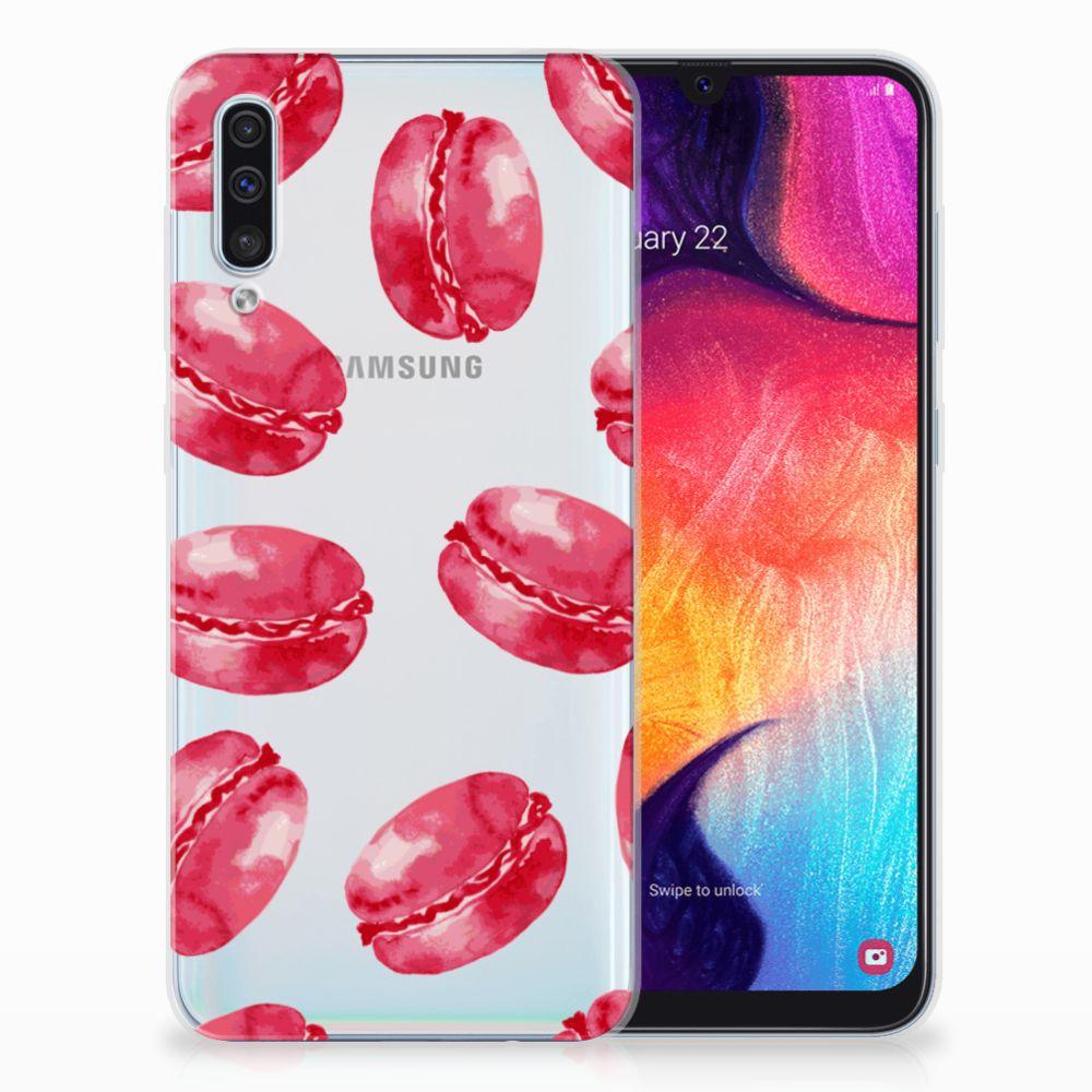 Samsung Galaxy A50 Siliconen Case Pink Macarons
