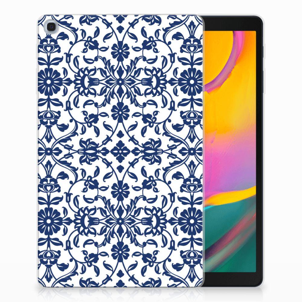 Samsung Galaxy Tab A 10.1 (2019) Tablethoesje Flower Blue