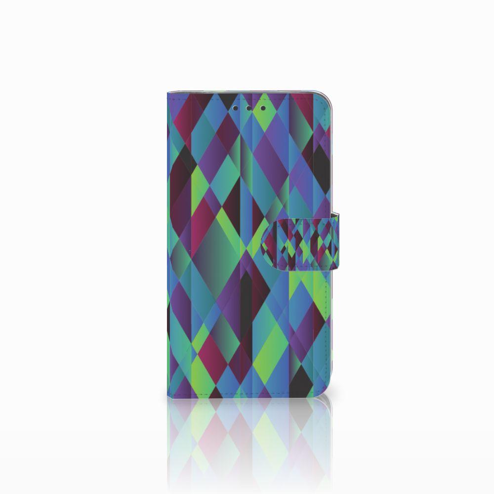 Motorola Moto E4 Plus Bookcase Abstract Green Blue