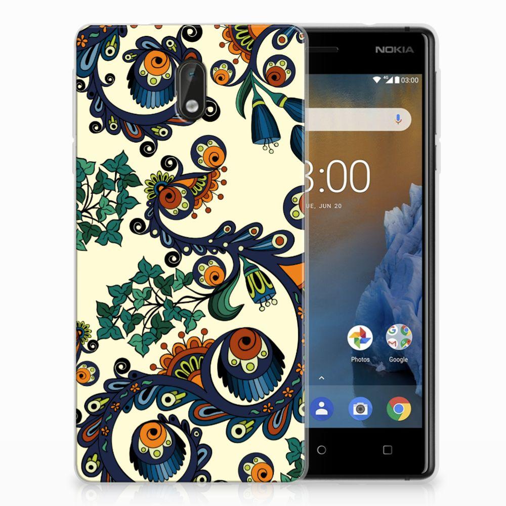 Nokia 3 TPU Hoesje Design Barok Flower