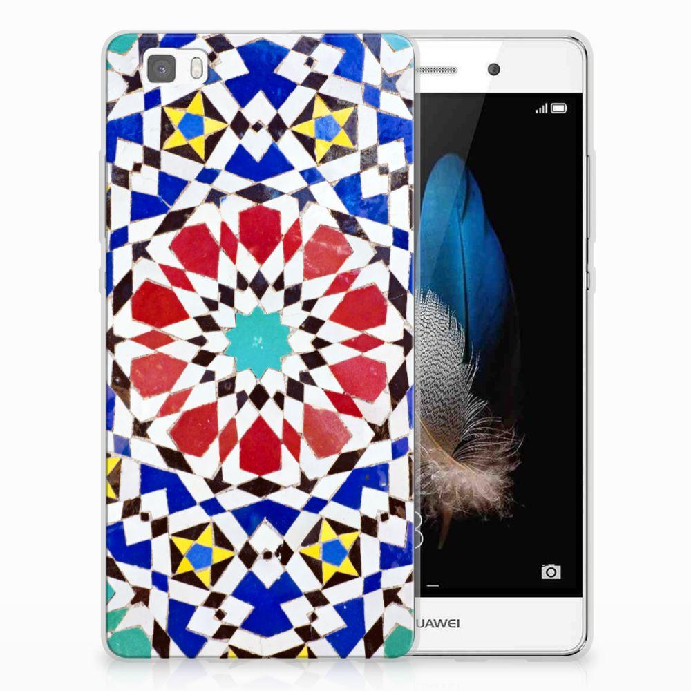 Huawei Ascend P8 Lite TPU Siliconen Hoesje Mozaïek
