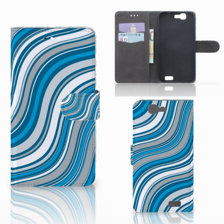 Huawei Ascend G7 Telefoon Hoesje Waves Blue
