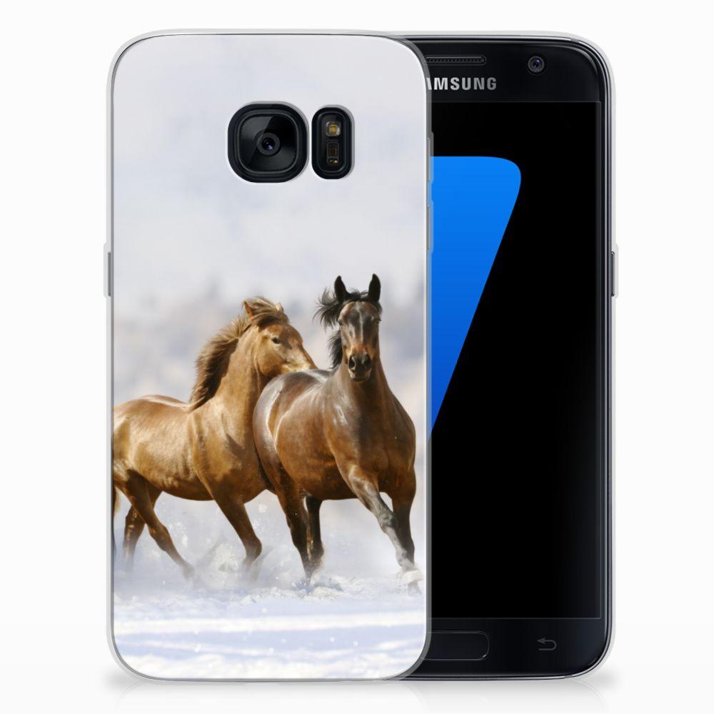 Samsung Galaxy S7 TPU Hoesje Paarden