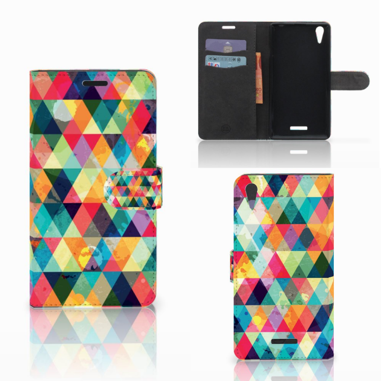 Sony Xperia T3 Telefoon Hoesje Geruit