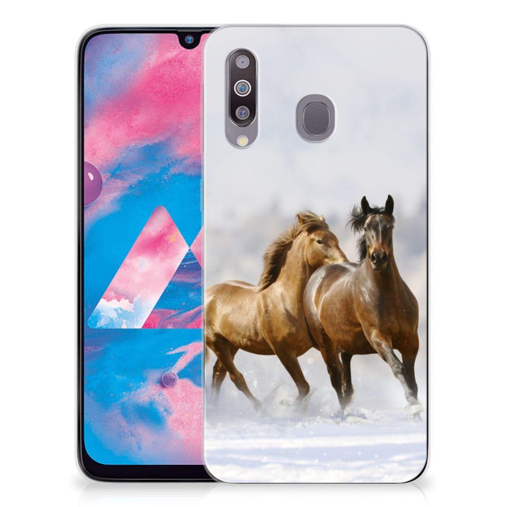 Samsung Galaxy M30 TPU Hoesje Paarden