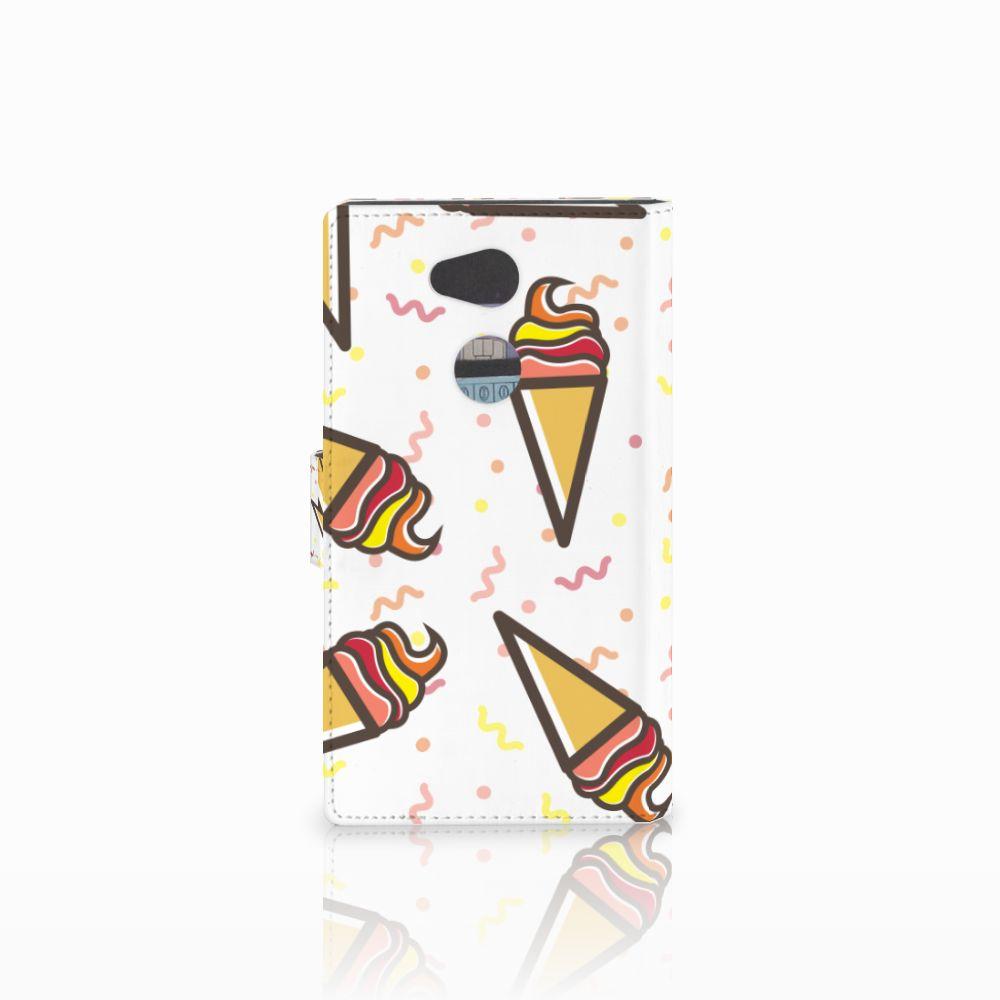 Sony Xperia L2 Book Cover Icecream