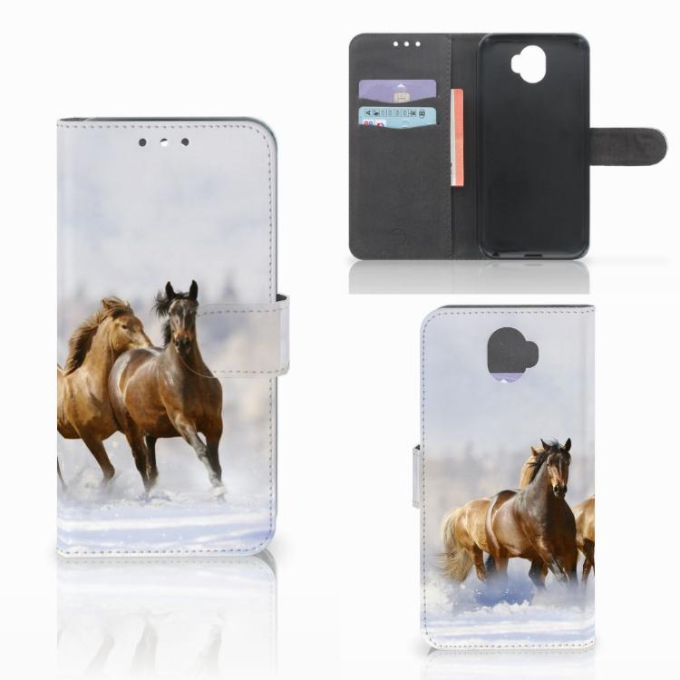 Wiko Wim Telefoonhoesje met Pasjes Paarden