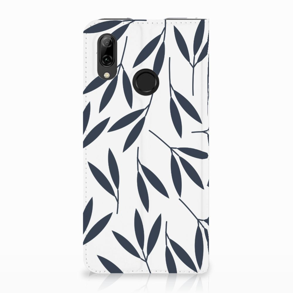 Huawei P Smart (2019) Standcase Hoesje Design Leaves Blue