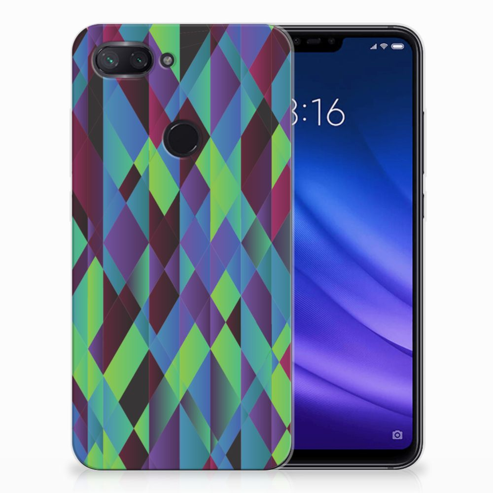 Xiaomi Mi 8 Lite TPU Hoesje Abstract Green Blue