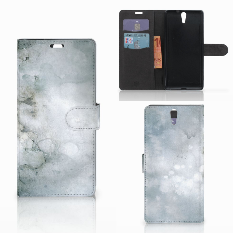 Hoesje Sony Xperia C5 Ultra Painting Grey