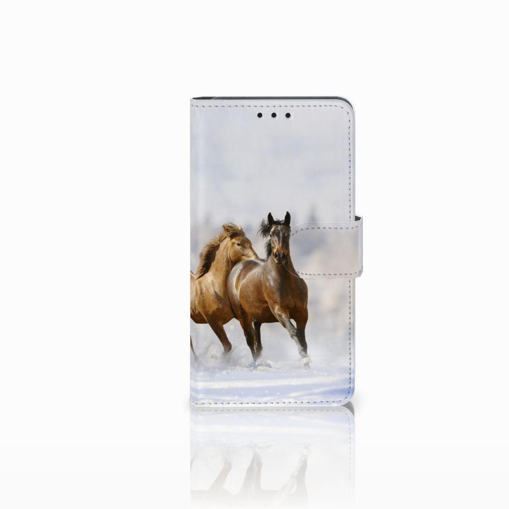 Huawei Y6 Pro 2017 Uniek Boekhoesje Paarden