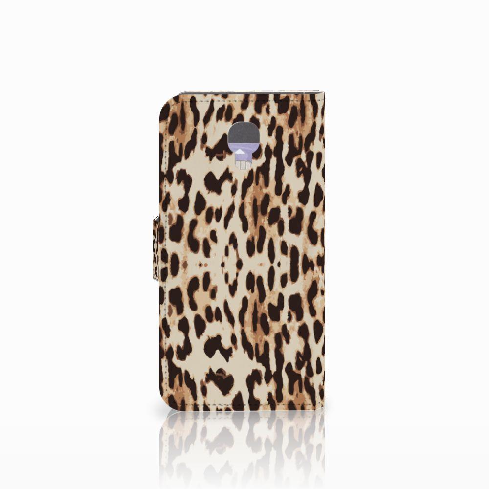 LG X Screen Telefoonhoesje met Pasjes Leopard