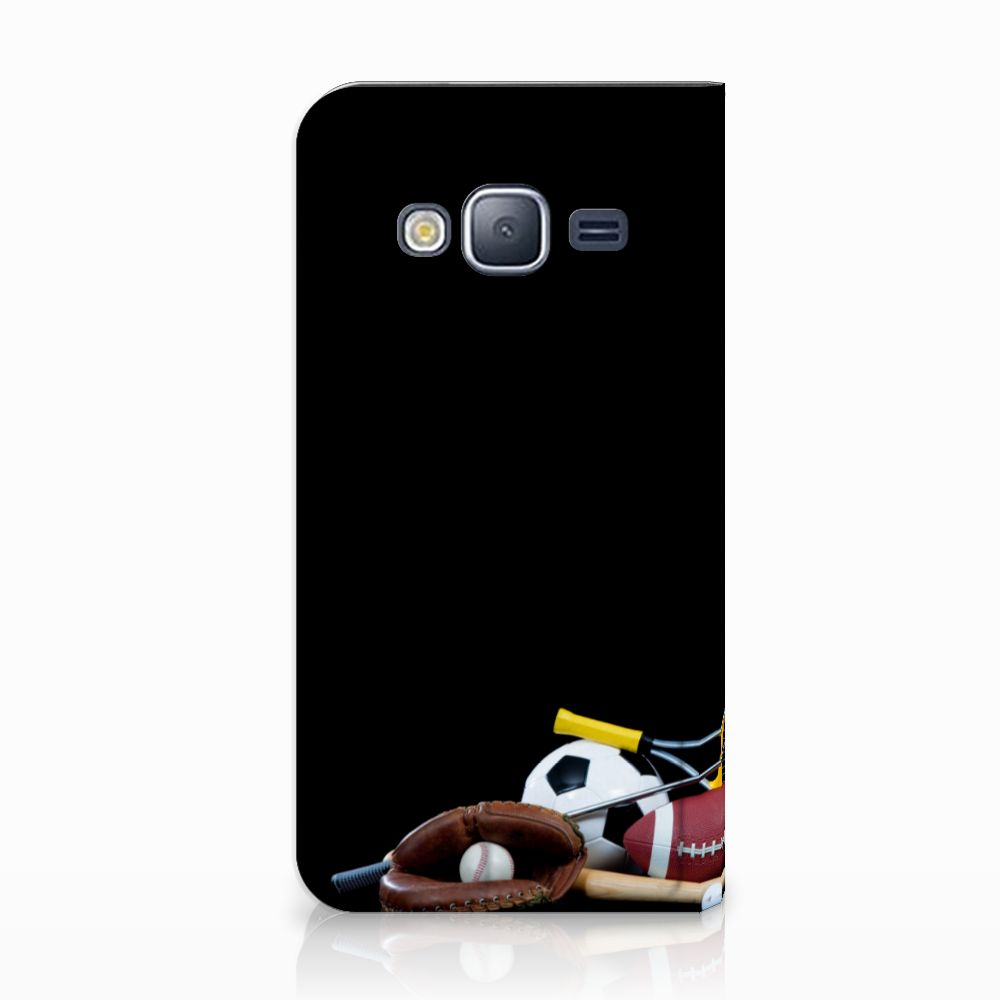 Samsung Galaxy J3 2016 Standcase Hoesje Design Sports