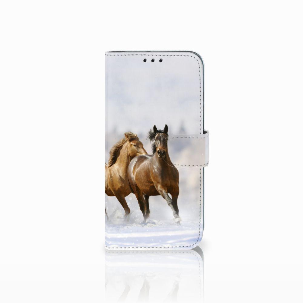 Honor 10 Lite Uniek Boekhoesje Paarden