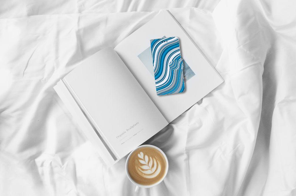 Huawei P Smart Boekhoesje Design Waves Blue