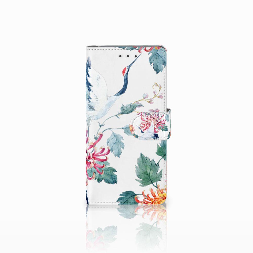Samsung Galaxy Grand Prime | Grand Prime VE G531F Uniek Boekhoesje Bird Flowers