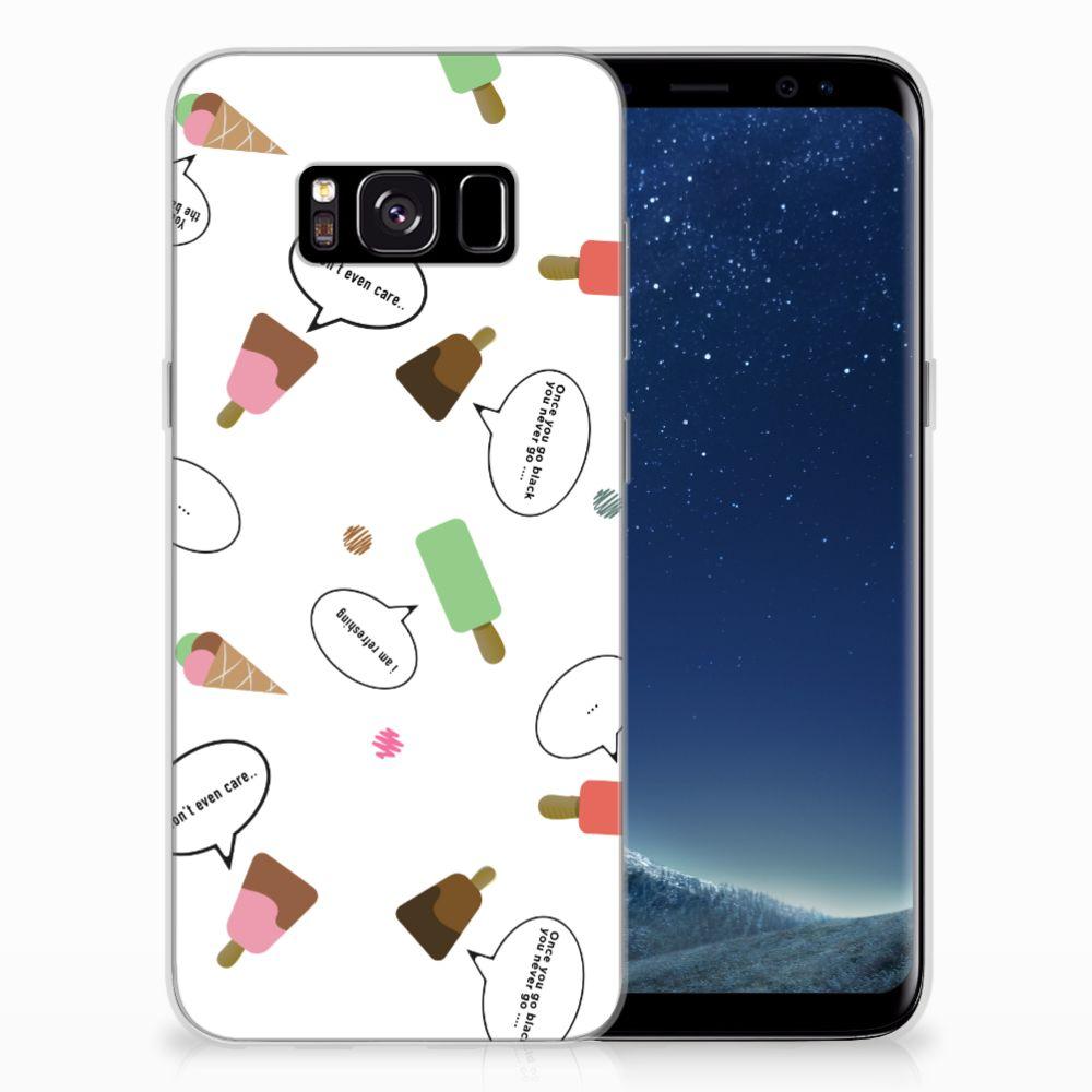 Samsung Galaxy S8 Siliconen Case IJsjes