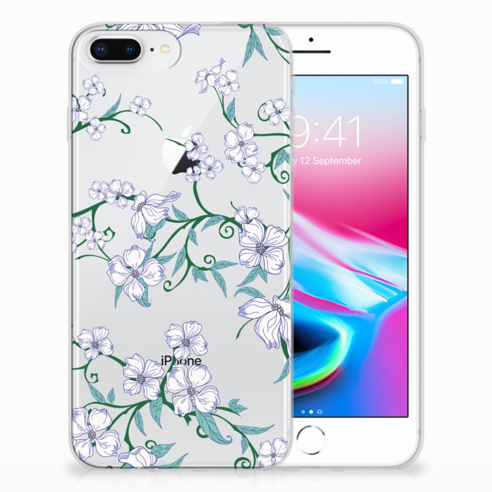 Apple iPhone 7 Plus | 8 Plus Uniek TPU Hoesje Blossom White