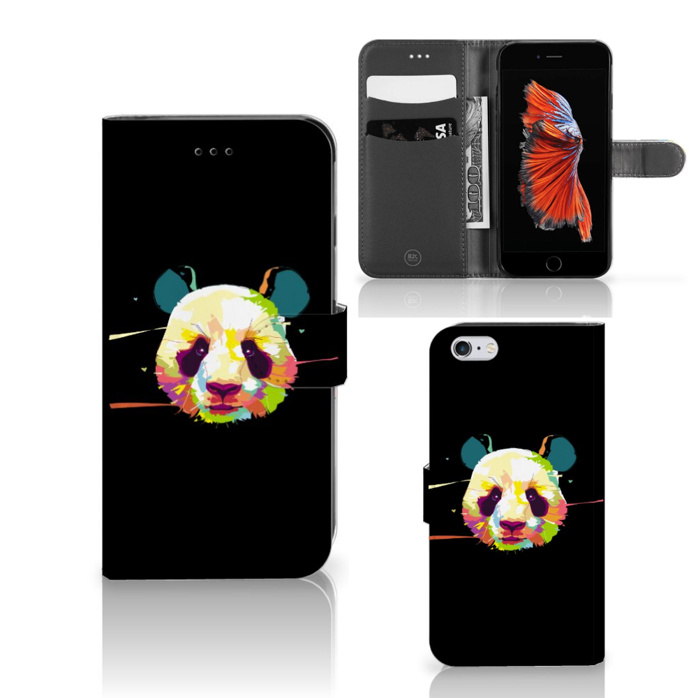Apple iPhone 6 Plus | 6s Plus Leuke Hoesje Panda Color