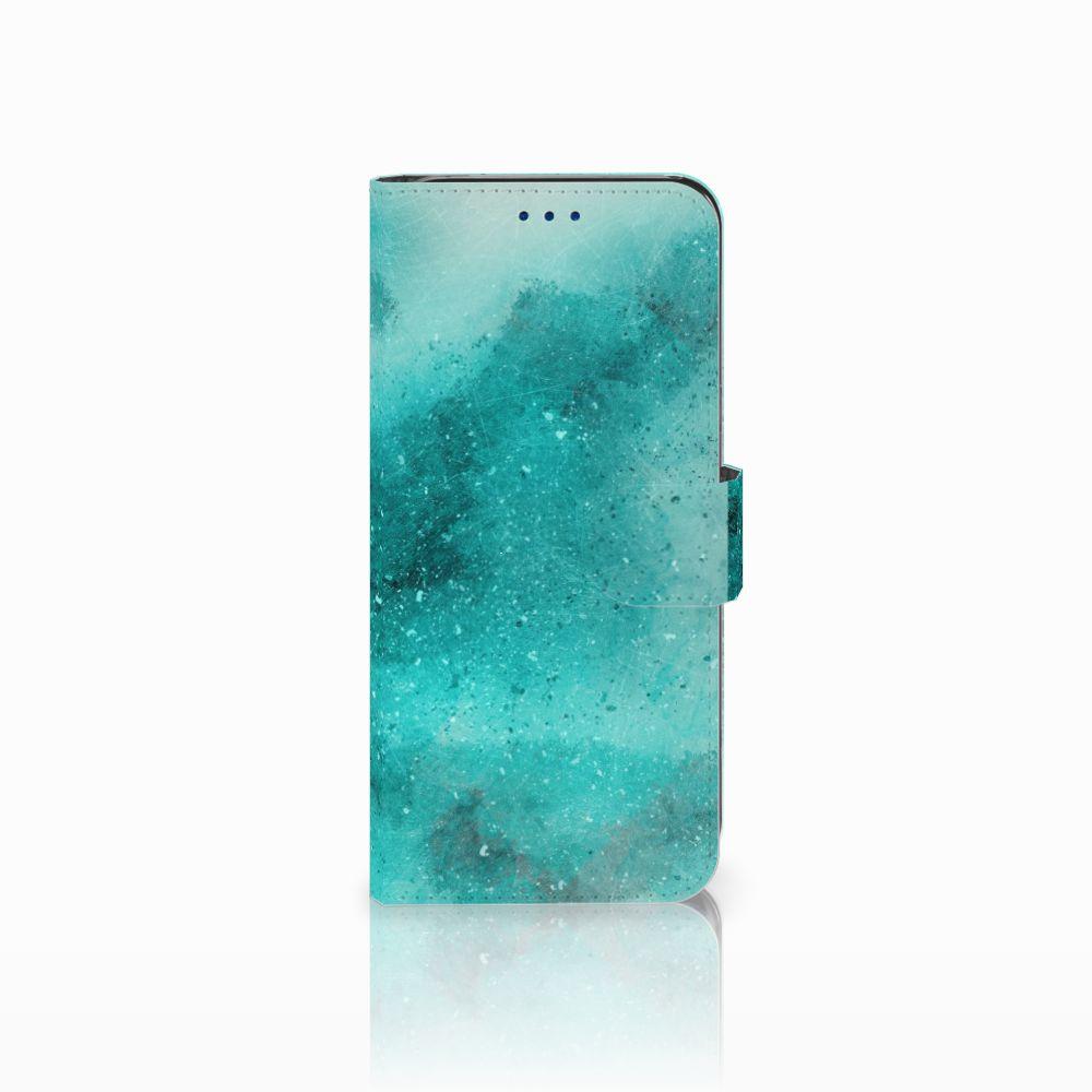 Samsung Galaxy S8 Uniek Boekhoesje Painting Blue
