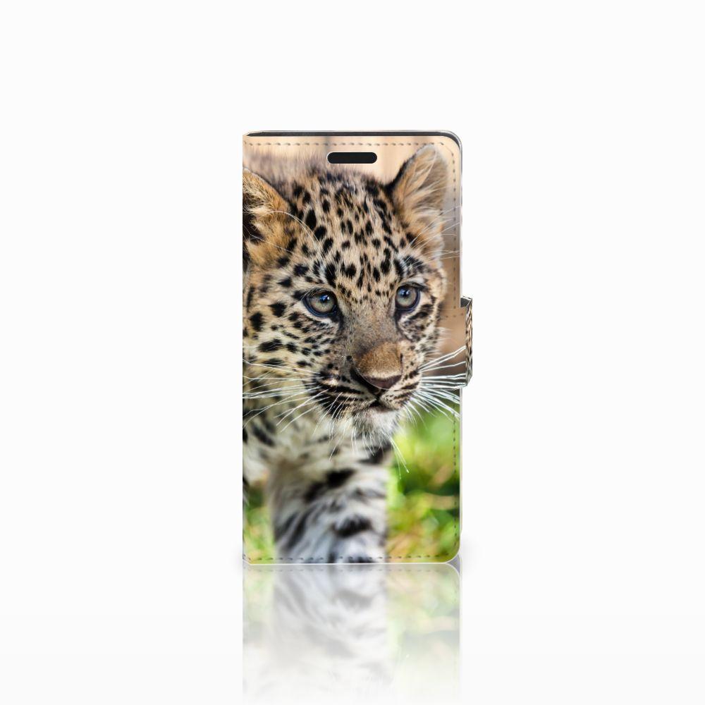 LG Leon 4G Uniek Boekhoesje Baby Luipaard