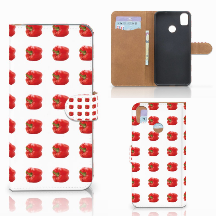 HTC Desire 10 Pro Book Cover Paprika Red