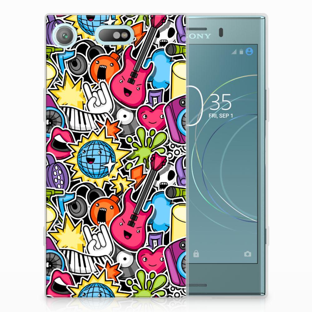 Sony Xperia XZ1 Compact Uniek TPU Hoesje Punk Rock