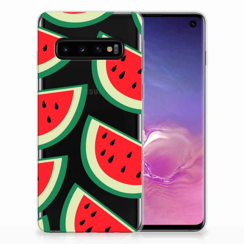 Samsung Galaxy S10 Siliconen Case Watermelons