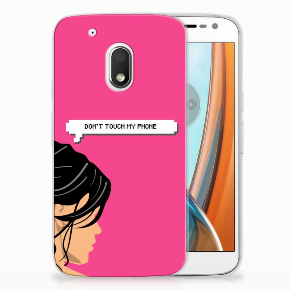 Motorola Moto G4 Play Uniek TPU Hoesje Woman DTMP