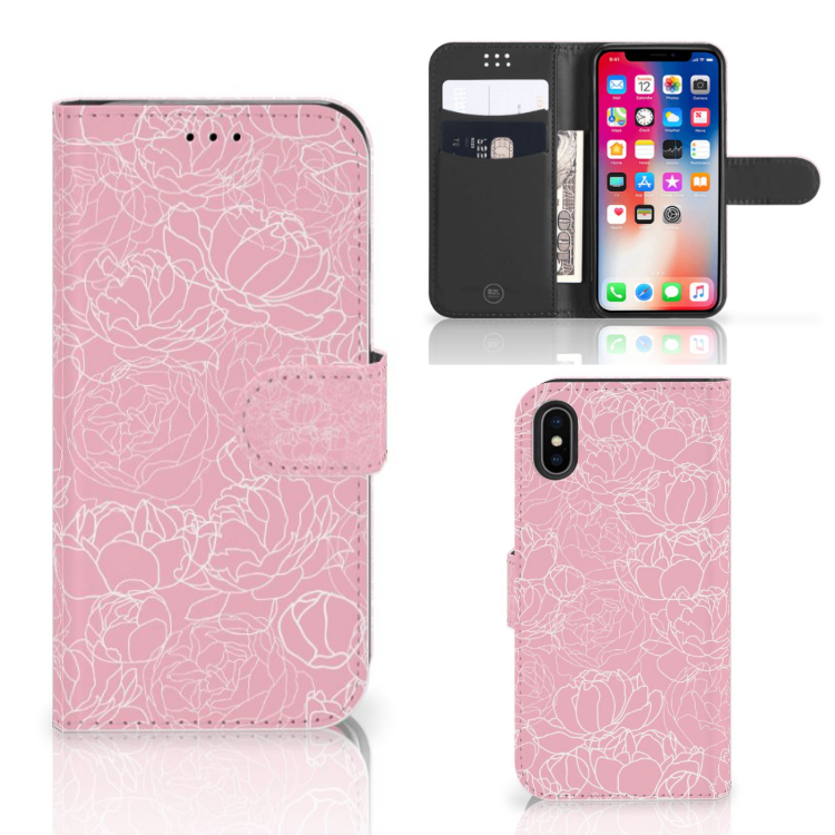Apple iPhone X | Xs Wallet Case White Flowers