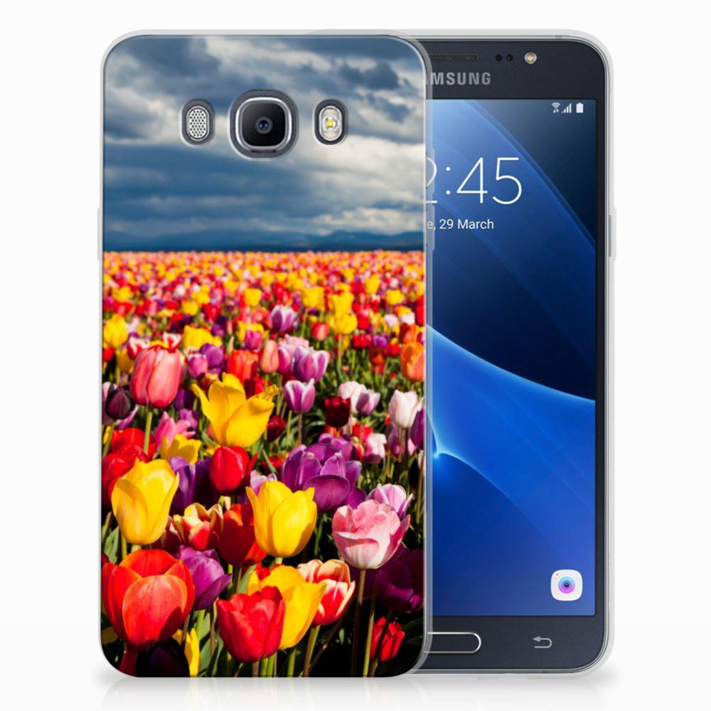 Samsung Galaxy J7 2016 Uniek TPU Hoesje Tulpen