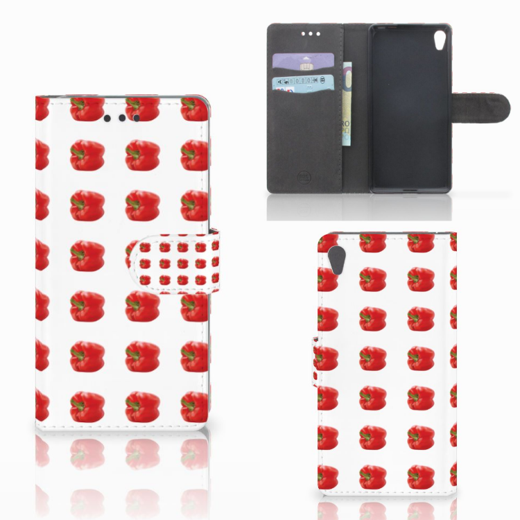 Sony Xperia E5 Book Cover Paprika Red